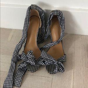 Sabo skirt gingham platform shoes - sz 7 SOLDOUT